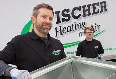 Fischer Heating and Air technicians