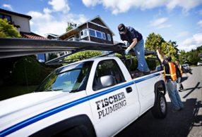 Fischer plumbing truck