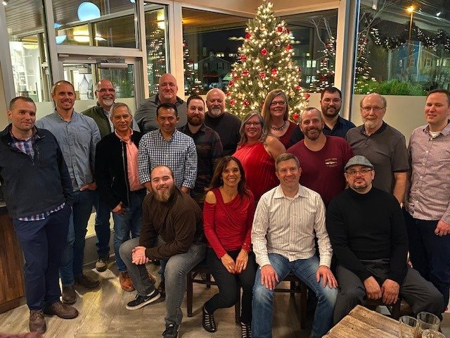 Fischer Restoration team at holiday party