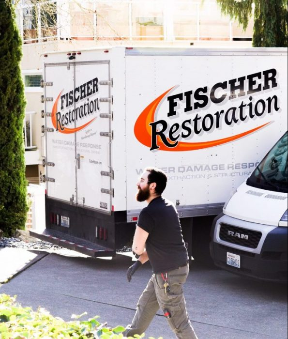 Fischer Restoration technician and truck
