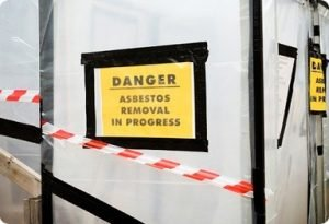 Asbestos Removal Warning Sign